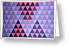 Blue Triangles Greeting Card