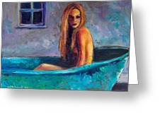 Blue Tub Study Greeting Card