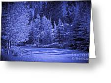 Blue Vail Greeting Card