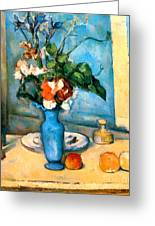 Blue Vase By Paul Cezanne Greeting Card