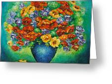 Blue Vase. Greeting Card