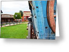 Blue Wagon 1 Greeting Card