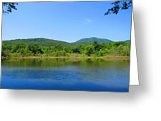 Blue Wall Lake Greeting Card