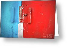 Blue Wall Red Door Greeting Card