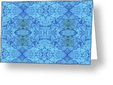 Blue Water Batik Tiled Greeting Card
