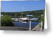 Blue Water Boats Greeting Card