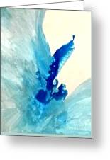 Blue Water Flower Greeting Card by KR Moehr