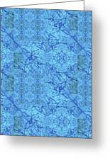 Blue Water Patchwork Greeting Card