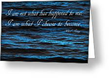 Blue Water With Inspirational Text Greeting Card