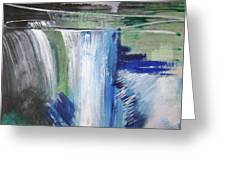 Blue Waterfalls Greeting Card
