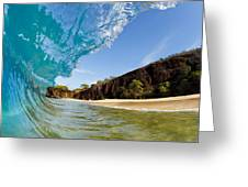 Blue Wave - Makena Beach Greeting Card