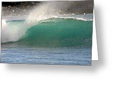 Blue Wave Maui Hawaii Greeting Card
