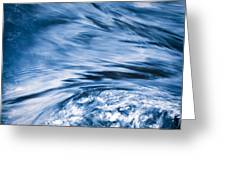 Blue Wave Water Greeting Card