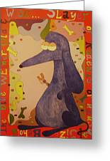 Blue Weiner Greeting Card