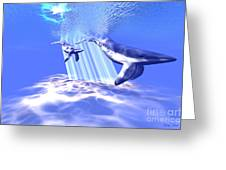 Blue Whales Greeting Card