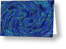 Blue Whirl Wind In The Sky Greeting Card