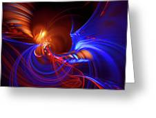Blue Whirlpool Greeting Card