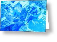 Blue Whisper Greeting Card