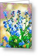 Blue Wildflowers Greeting Card