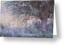Blue Willow. Monet Style Greeting Card