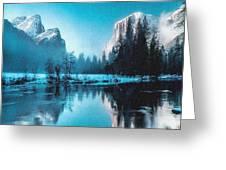 Blue Winter Fantasy. L B Greeting Card