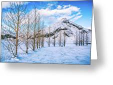 Blue Winter Sky Greeting Card