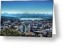 Blue Zurich Greeting Card