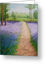 Bluebells With Butterflies Greeting Card
