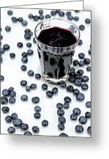 Blueberries And Blueberry Juice Greeting Card