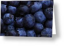 Blueberries Close-up - Horizontal Greeting Card
