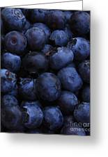 Blueberries Close-up - Vertical Greeting Card