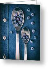 Blueberries On Denim I Greeting Card