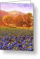 Blueberry Fields Season Of Blueberries Greeting Card