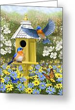 Bluebird Garden Home Greeting Card