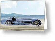 Bluebird II, 1928, World Record Land Speed Record At Pendine Sands, Wales, 178.88 Mph Greeting Card