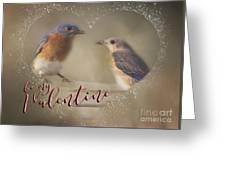 Bluebird Love Greeting Card