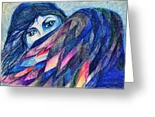 Bluebird Of Happiness. Greeting Card