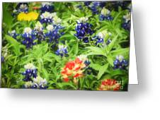 Bluebonnet Bouquet Greeting Card