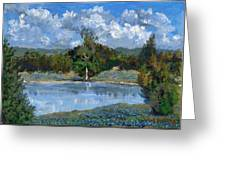 Bluebonnet Pond Greeting Card