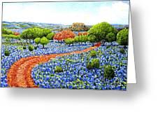 Bluebonnets Across Texas Greeting Card