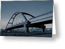 Blued Bridge Greeting Card