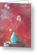 Bluegreen Vase Greeting Card