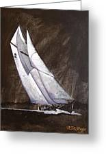 Bluenose At Night Coming Greeting Card