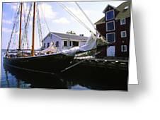 Bluenose II At Historic Properties Halifax Nova Scotia Greeting Card