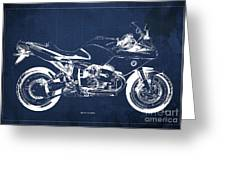 Blueprint For Men Office Decoration. R1100s Blue Background Greeting Card