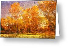 Gold Trees Greeting Card