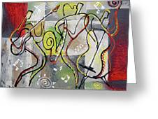 Blues And Rock Greeting Card