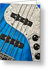 Blues Bass Greeting Card