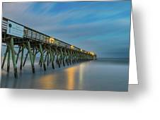 Blues Beach Greeting Card