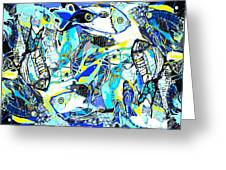 Blues Fishes Greeting Card